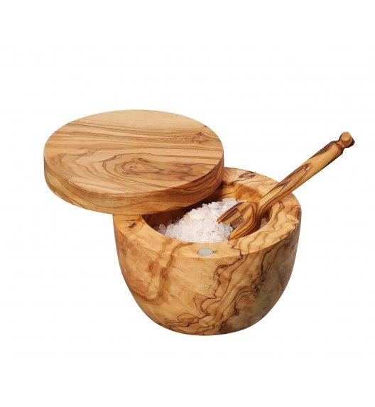 ZASSENHAUS Pojemnik na sól, drewno oliwne ⌀ 9,5×7 cm / FreeForm