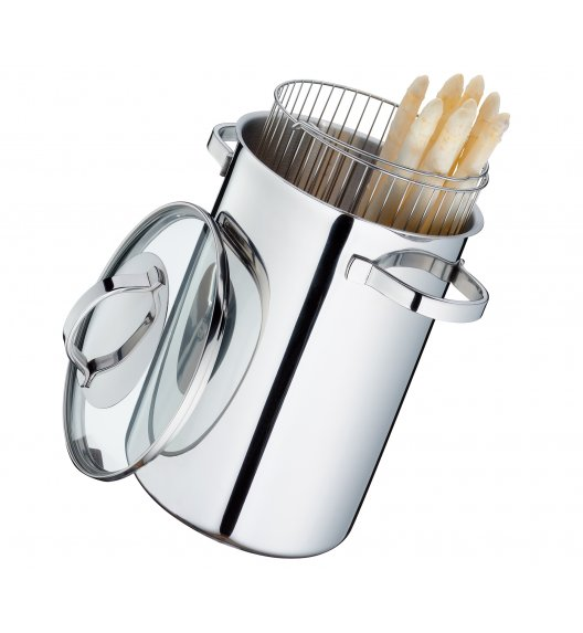 KUCHENPROFI SIENA Garnek 4,0 l do gotowania szparagów ⌀ 17 cm / indukcja / FreeForm