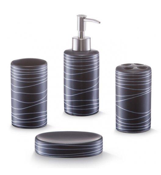 ZELLER BLACK 4-częściowy zestaw akcesoriów łazienkowych 200 ml / ceramika