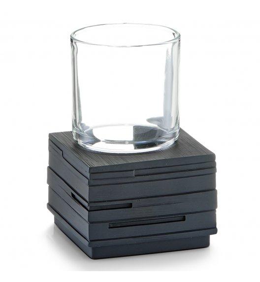 ZELLER SCHIEFER Szklanka z podstawką 12 cm czarny / tworzywo sztuczne