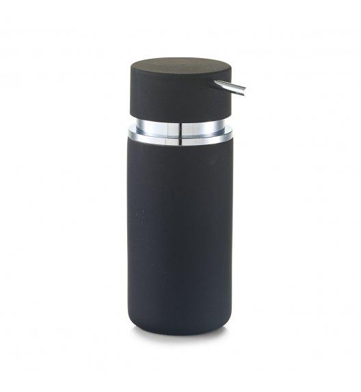 ZELLER RUBBER Dozownik do mydła w płynie 16 cm czarny / ceramika