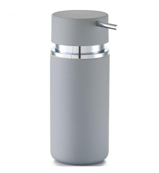 ZELLER RUBBER Dozownik do mydła w płynie 16 cm szary / ceramika