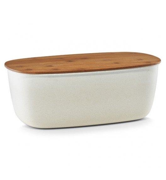 ZELLER ECO LINE Chlebak z deską do krojenia 2w1 biały / bambus