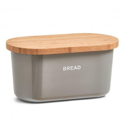 ZELLER BREAD Chlebak z deską do krojenia 2w1 / 36 cm / szary / tworzywo sztuczne