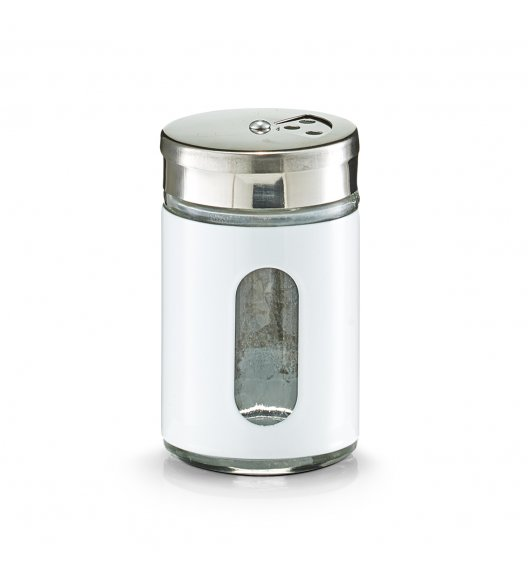 ZELLER Pojemnik na przyprawy 90 ml biały / stal nierdzewna