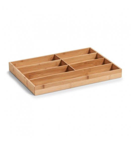 ZELLER Drewniany pojemnik na sztućce do szuflady 7 przegródek / drewno bambusowe