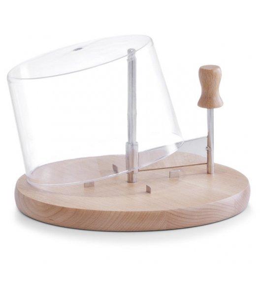 ZELLER Deska z nożem obrotowym do twardego sera + pokrywka Ø22,5 cm / drewno bukowe