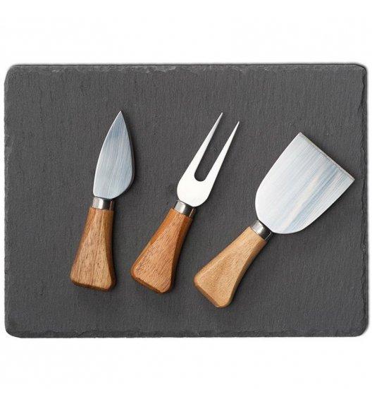 ZELLER Zestaw do serwowania sera 4 elementy 33,5 cm / drewno