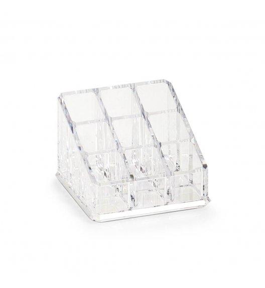 ZELLER Kwadratowy organizer na kosmetyki 9 przegródek 9 x 6,5 cm / tworzywo sztuczne