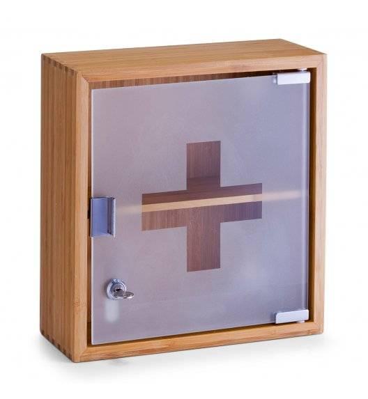 ZELLER Apteczka ze szklanymi drzwiczkami 29 x 31 cm / drewno bambusowe