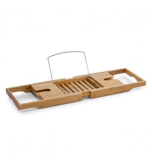 ZELLER Półka na wannę rozsuwana 105x22 cm / drewno bambusowe