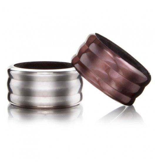 VACU VIN Komplet pierścieni przeciw kapaniu na butelkę wina 2 szt. / metal / LENA