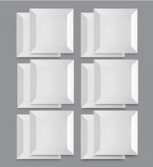 LUBIANA CLASSIC Komplet Talerze obiadowe 27 cm / 12 el / 12 os / porcelana