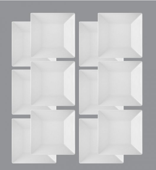 LUBIANA CLASSIC Komplet Talerze głębokie 18,5 cm / 12 el / 12 os / porcelana