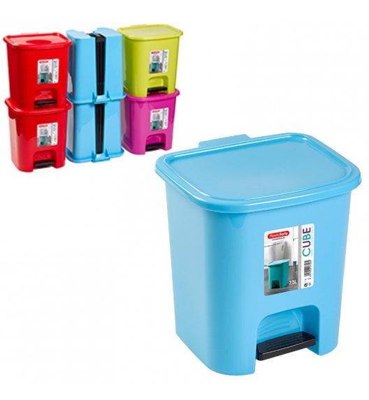 PLASTIC FORTE CUBE Kosz na śmieci z pedałem / 7,5 l / mix kolorów