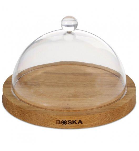 BOSKA Deska do sera z kloszem Ø 23,5 cm / drewno dębowe / LENA