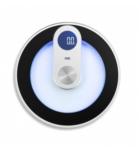 ADE IRIS Podświetlana waga łazienkowa ⌀ 33 cm / szkło / FreeForm