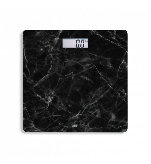 ADE AURORA Waga łazienkowa 30 x 30 cm / czarny marmur / szkło / FreeForm