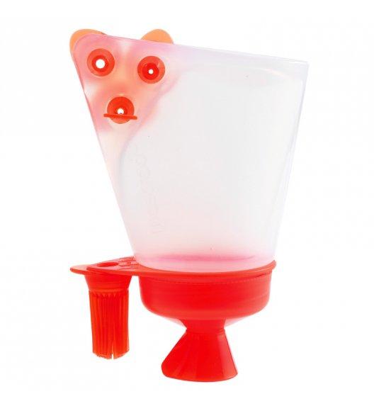 MASTRAD Pojemnik do dekorowania 100 ml z 4 wymiennymi końcówkami / czerwony / LENA