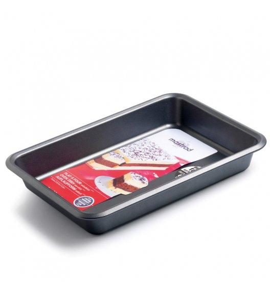 MASTRAD Prostokątna keksówka do ciasta 26 cm / metal / ciemnoszara / LENA