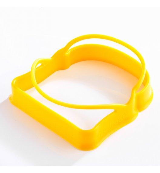 MASTRAD Zestaw 2 foremek do jajek w kształcie tostów / żółty / tworzywo sztuczne / LENA