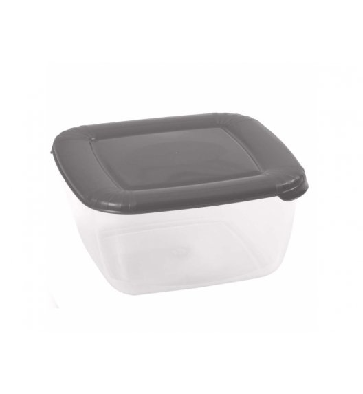DOMOTTI ALBERT Kwadratowy pojemnik do żywności 0,95 l / szary / 85452