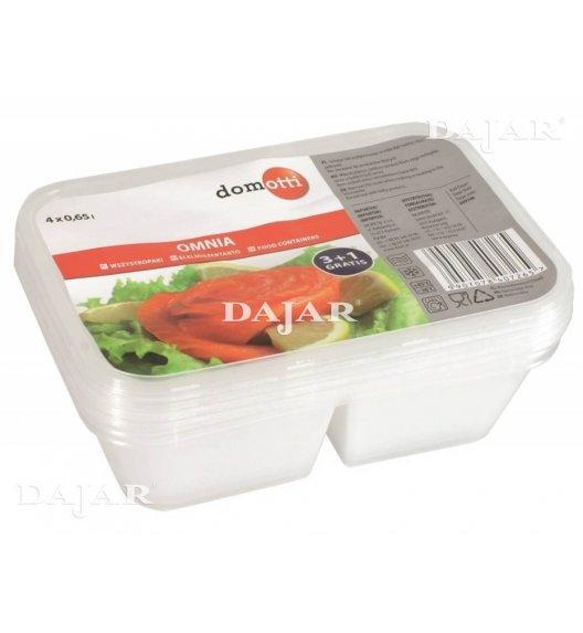 DOMOTTI OMNIA Komplet 4 pojemników dzielonych 0,65 l / transparentny / 699346