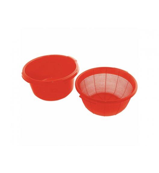 DOMOTTI OTELLO Komplet Durszlak + miska Ø 29,5 cm / czerwony / tworzywo sztuczne / 698906