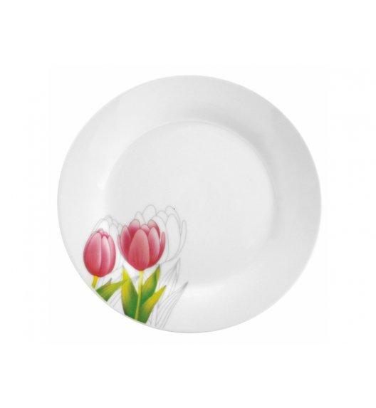 DOMOTTI TULIPAN Talerz obiadowy 23 cm / porcelana / 63192