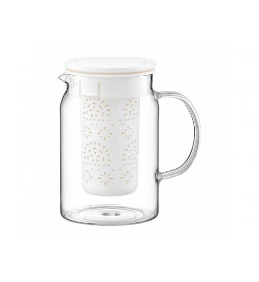 AMBITION SUBTELE Dzbanek z zaparzaczem 800 ml / biały / 89002