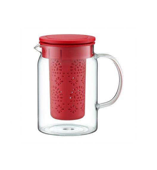 AMBITION SUBTELE Dzbanek z zaparzaczem 800 ml / czerwony / 89003