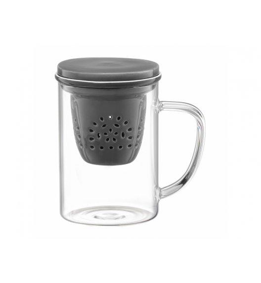 AMBITION GLAMOUR Szklany kubek z porcelanowym zaparzaczem 400 ml / 89019