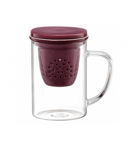 AMBITION GLAMOUR Szklany kubek z porcelanowym zaparzaczem 400 ml / 89021