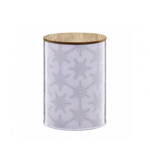 AMBITION WINTER Puszka 1,2 l z bambusowym wieczkiem / śnieżynki / 29589
