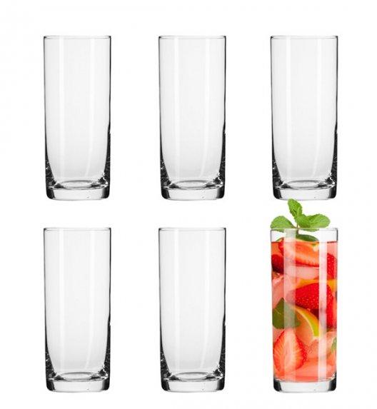 KROSNO BASIC LONG DRINK Komplet szklanek do drinków 6 el / 300 ml / szkło najwyższej jakości