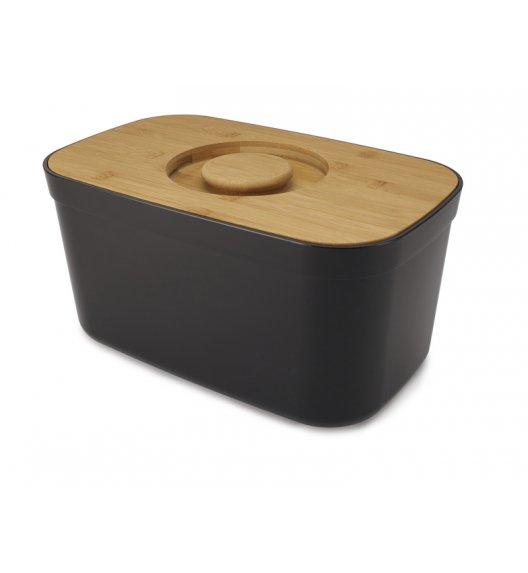JOSEPH JOSEPH Chlebak z deską 35,5 cm / 2w1 / drewno bambusowe / czarny / Btrzy