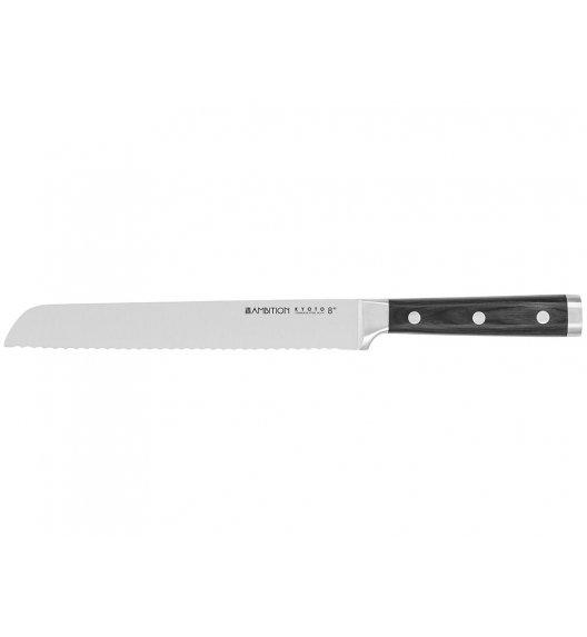 AMBITION KYOTO Nóż do chleba 20 cm / drewniana rękojeść / 20490