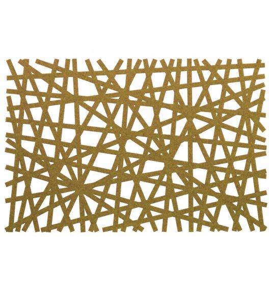 AMBITION PRETTY Mata stołowa 30 x 45 cm / prostokątna / filc / brązowa / 89101