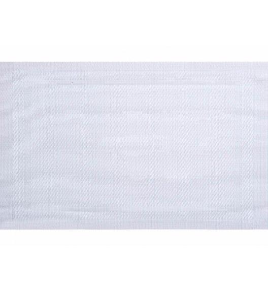 AMBITION VELVET Mata stołowa 30 x 45 cm / prostokątna / biała / 21257