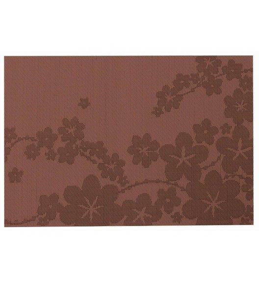 AMBITION DREAM Mata stołowa 30 x 45 cm / prostokątna / brązowa / kwiaty / 37038