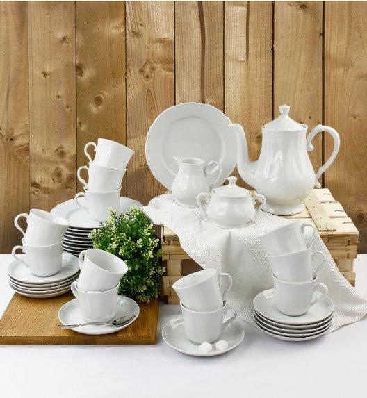 WYPRZEDAŻ! KAROLINA ALBA Serwis kawowy 39 elementów dla 12 osób / Porcelana