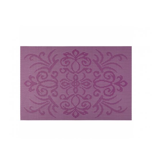 AMBITION GLAMOUR Mata stołowa 30 x 45 cm / prostokątna / fioletowa / 37088
