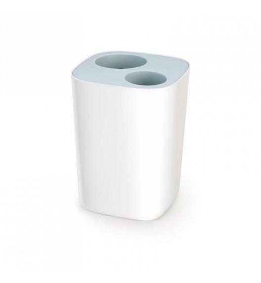 JOSEPH JOSEPH SPLIT Kosz łazienkowy do segregacji odpadów 8 L / błękitny / tworzywo sztuczne / Btrzy