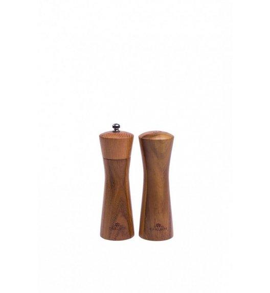 GERLACH NATUR Zestaw solniczka + pieprzniczka / 2 elementy / drewno wysokiej jakości