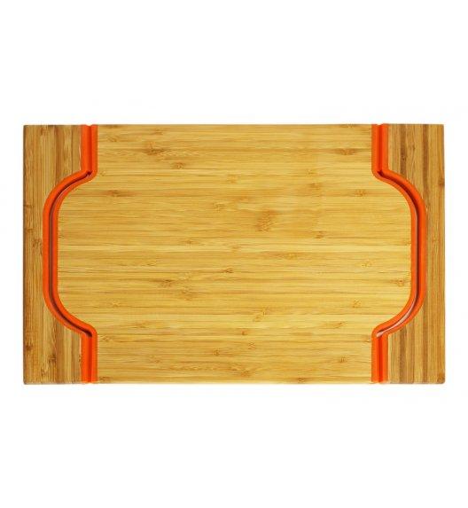 FREEFORM Taca do serwowania z drewna bambusowego z uszami / pomarańczowa / LENA