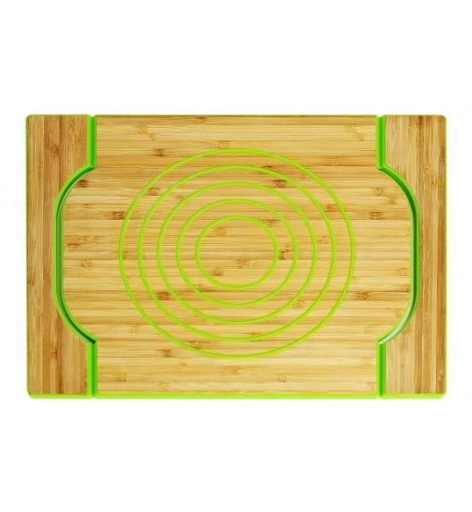 FREEFORM Dwustronna taca do serwowania zielona / drewno bambusowe + silikon / LENA