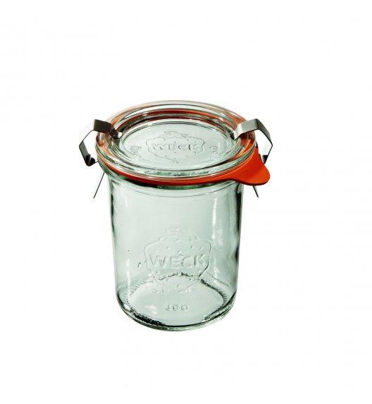WECK Komplet 12 słoików na przetwory z uszczelka i 2 zapinkami 160 ml