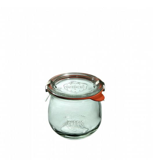 WECK TULIP Komplet 6 słoików na przetwory z uszczelką i 2 zapinkami 370 ml