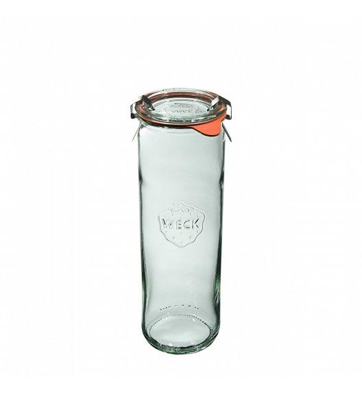 WECK Komplet 6 słoików cylindrycznych na przetwory z uszczelką i 2 zapinkami 600 ml