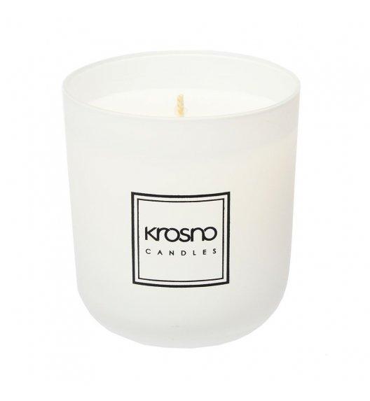 KROSNO FIGUIER Świeca zapachowa 250 g / biała / aksamitny bursztyn / długi czas palenia